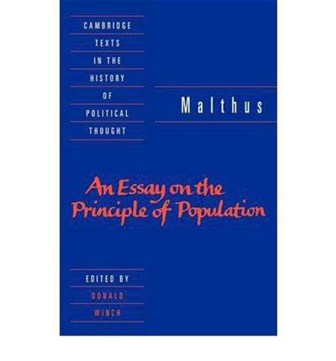 Thomas malthus an essay on the principle of population quotes